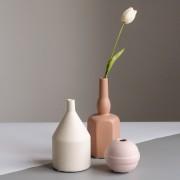 娴菲色彩磨砂亚光ins北欧式陶瓷花瓶
